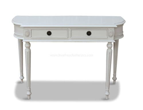 Elegant Console Table in Antique White