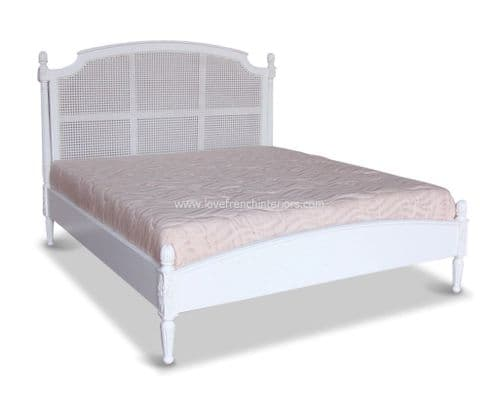 Elise Rattan Bed with Low Footend