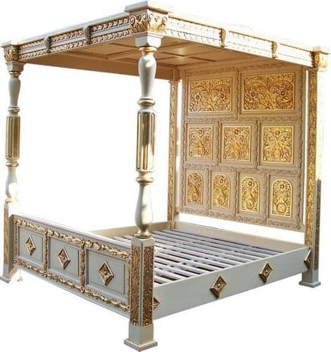 Four Poster Carved Canopy Bed