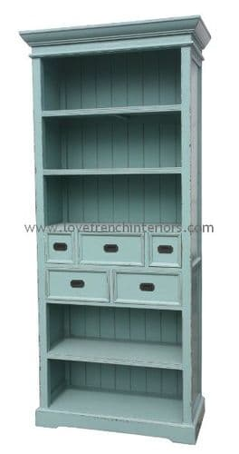 French Blue Cabinet or Bookcase 2