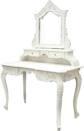 French Dressing Table in Antique White