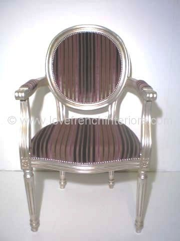 French Oval Plain Back Carver Chair