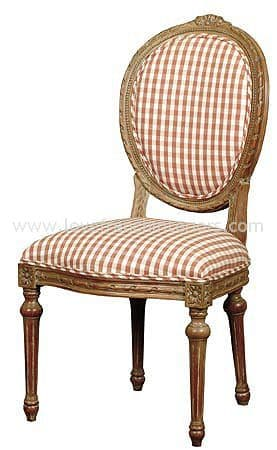 French Oval String Back Dining Chair