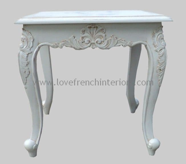 French Square Side Table