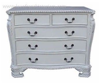 George III Serpentine 5 Drawer Chest
