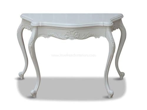 George III Serpentine Console Table