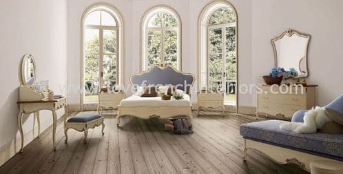 Glamour Bedroom Collection in Cream and Blue