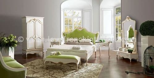 Glamour Bedroom Collection in White and Green