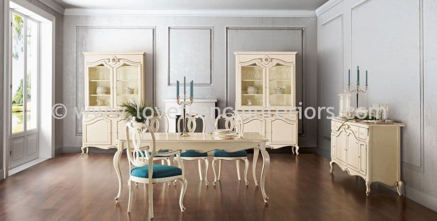 Glamour Dining Collection in Cream
