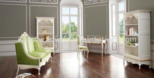 Glamour Living Room Collection in White and Gold