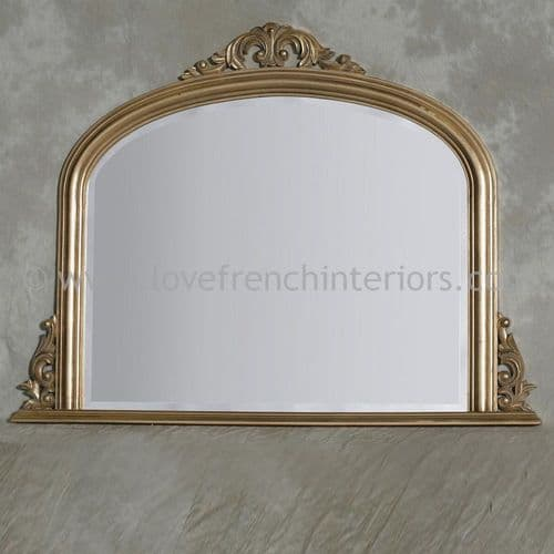 Gold Overmantel Mirror