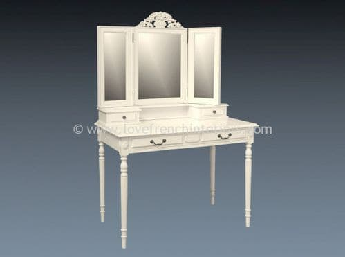 Isabelle Dressing Table in Antique White