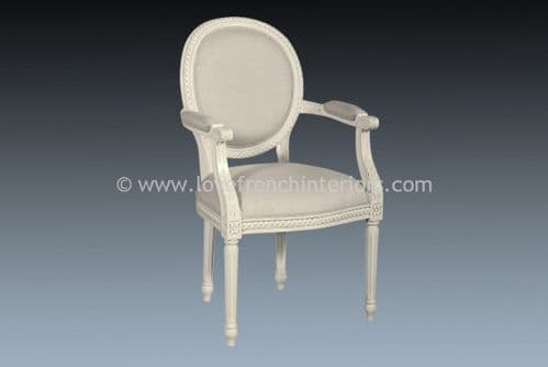 Isabelle Upholstered Chair in Antique White