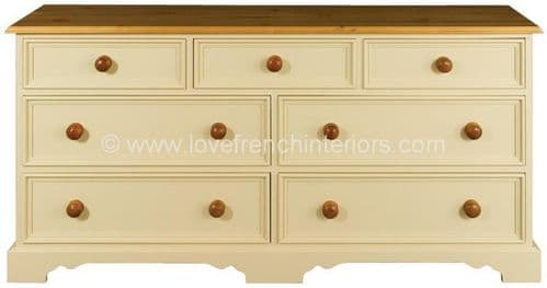 Juline Bespoke 3 over 2 by 2 Chest of 7 Drawers 'B'