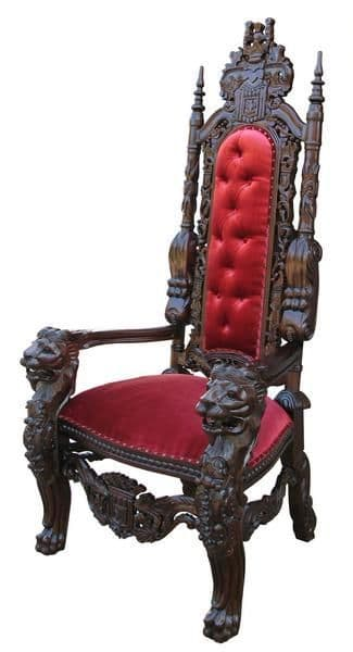 King Lion Throne Chair