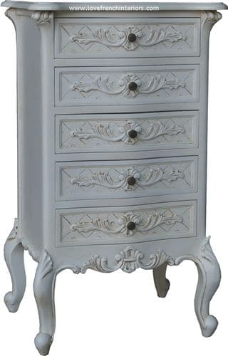 Louis 5 Drawer French Chest or Bedside