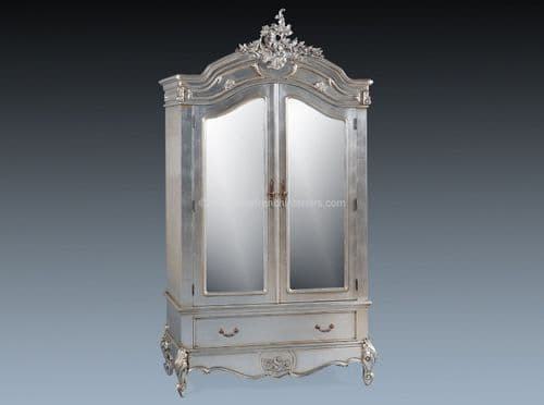 Louis Double Mirrored Armoire