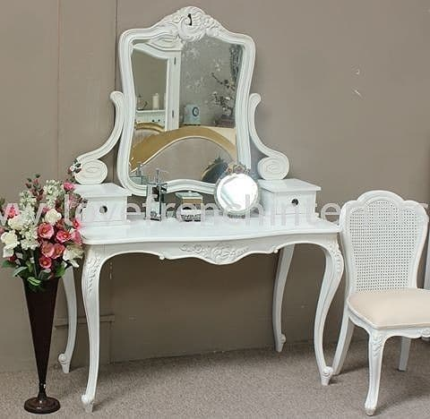 Louis Dressing Table in Antique White