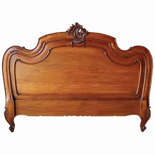 Louis Headboard Double Mahogany