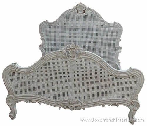 Louis Rattan Single Panel French Bed Double