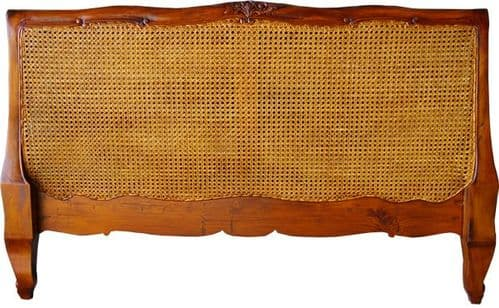 Louis XV Rattan Headboard in Mahogany