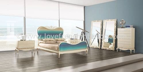 Luxus Bedroom Collection in Cream and Turquoise