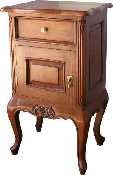 Mahogany Bedside Cabinet with 1 Drawer and 1 Cupboard