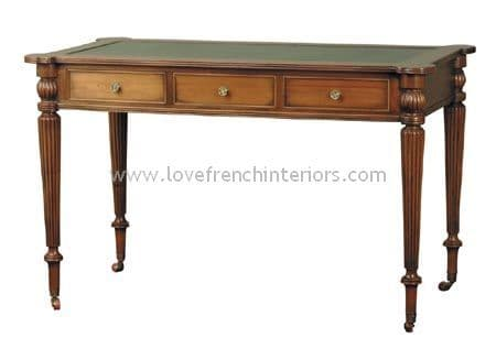 Regency 3 Drawer Writing Desk Bespoke