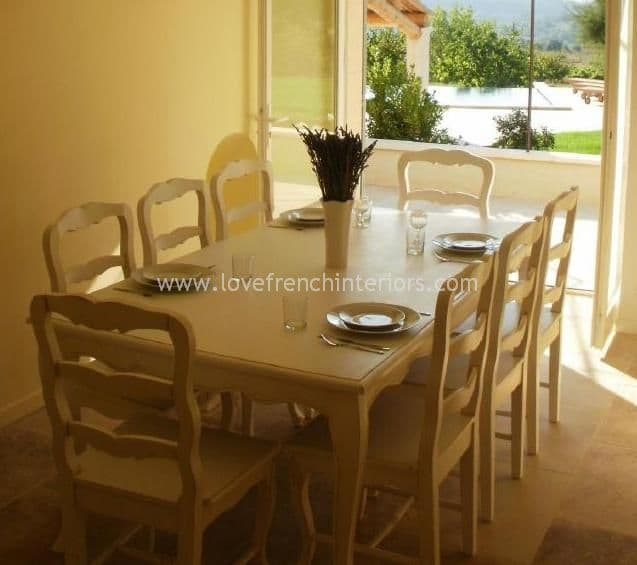 Rochelle French Dining Table in your choice of colour