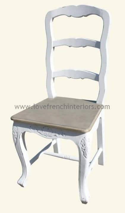 Rochelle French Ladder Back Chair in your choice of colour