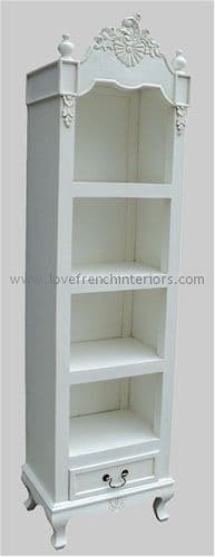 Rochelle Wide French Bookcase or Cabinet