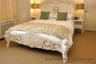 Rococo Ornately Carved Bed Super Kingsize AW