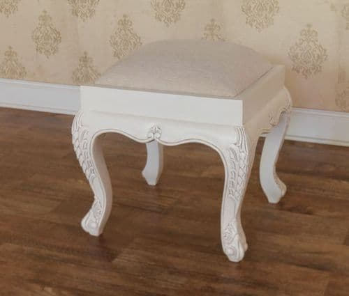 Rococo Stool with Painted Frame