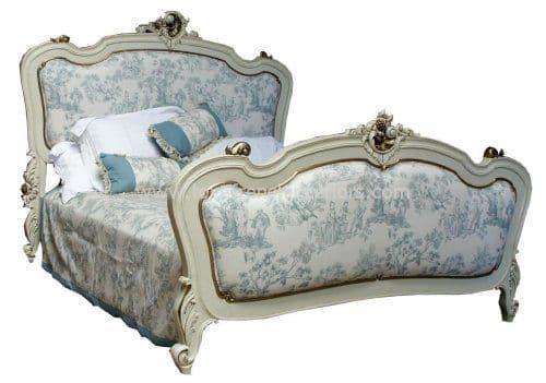 Rococo Upholstered French Bed