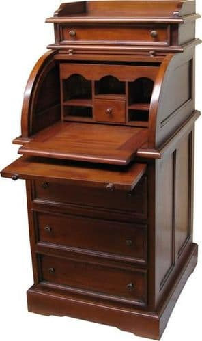 Roll Top Bureau in Mahogany