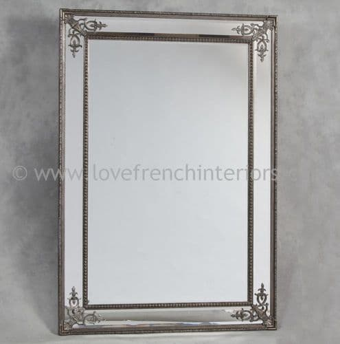Silver French Large Mirror