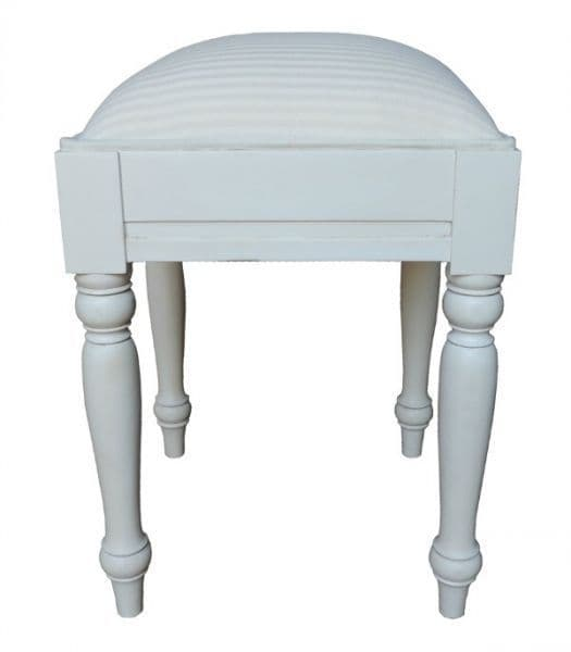 Sleigh Stool with Painted Frame