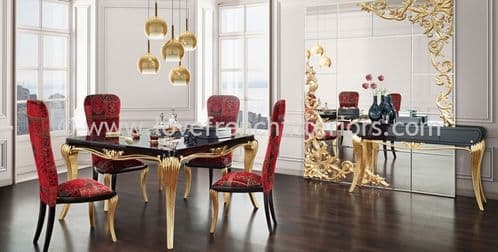 Spacium Dining Collection in Black and Gold