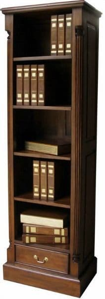 Tall and Slim Bookcase in Mahogany