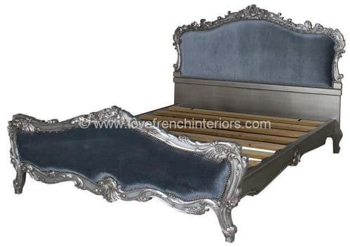Tamsin Silver and Velvet Bed