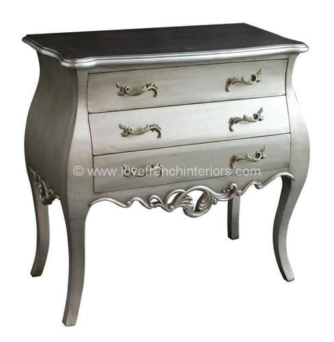 Tamsin Silver Three Drawer Chest