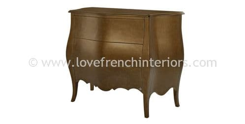 Three Drawer Curved Chest