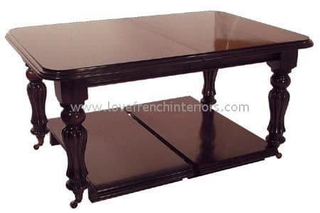 Victorian Square End Dining Table up to 260cm long