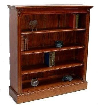 Wide Bookcase in Mahogany