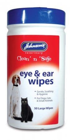 Johnsons Clean 'n' Safe Eye & Ear Wipes.