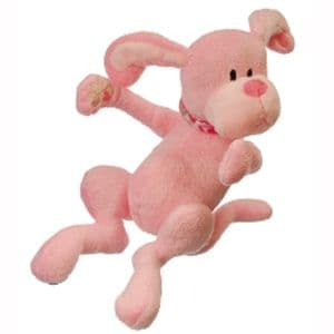 "Puppy Hem and Boo 8.5"" (22cm) Super Soft Toy - Pink"