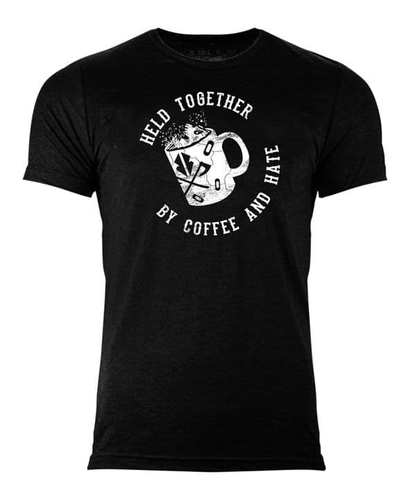 S251 hate and coffee T-shirt Black