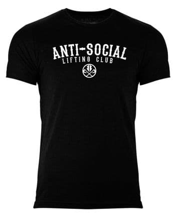 S272 Anti Social Lifting Club Mens T-shirt Heather Black