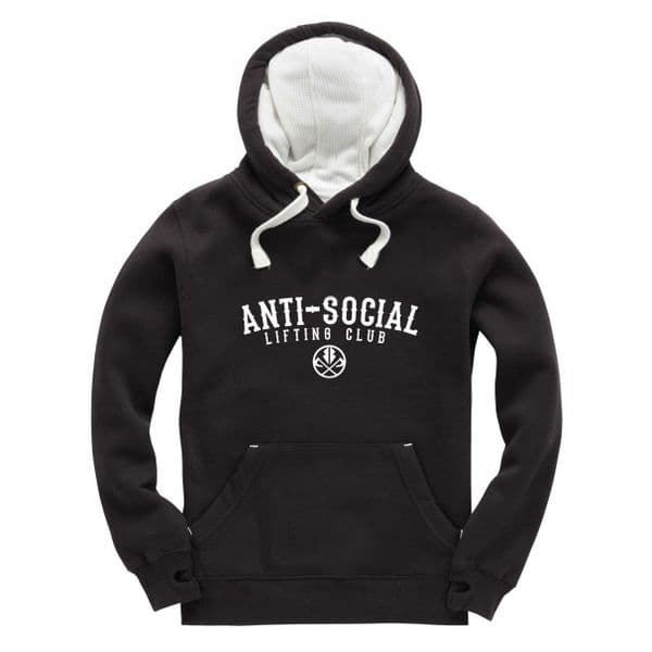 S272 Lifting Club Winter Hoodie Black / White