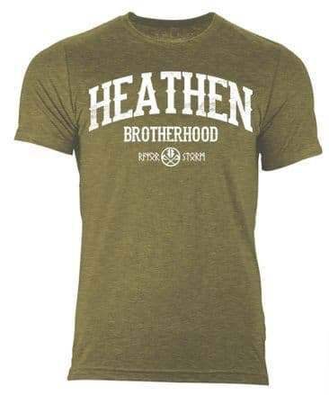 S357 HBH T-shirt Heather Heather Olive